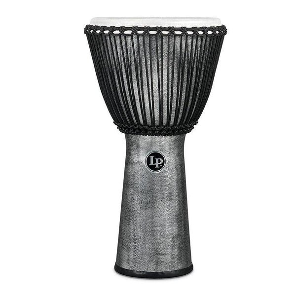 LP LP Rope Djembe 12.5'' Synthetic Shell, Synthetic Head, Grey