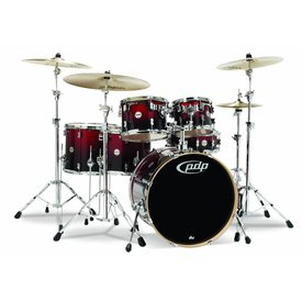 PDP PDP Concept Maple Red To Black Fade - Chrome Hardware 6 Pcs