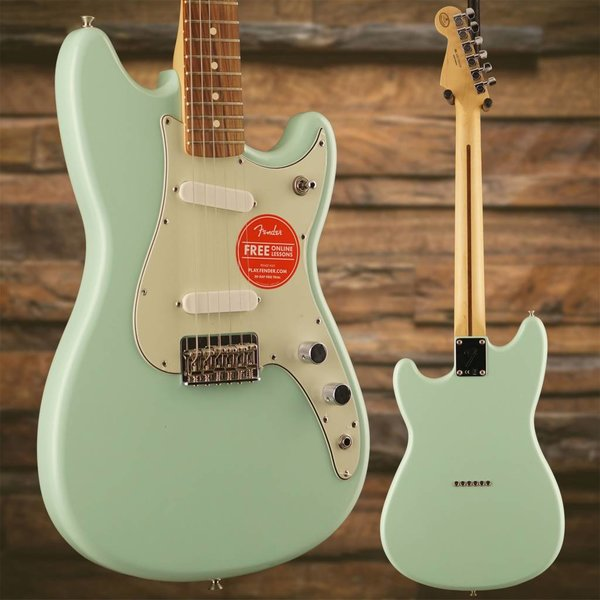 Fender Duo-Sonic SS, Pau Ferro Fingerboard, Surf Green SN/MX17902338
