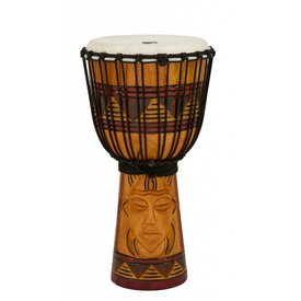 Toca Toca Origins Wood Djembe 10'' Tribal Mask
