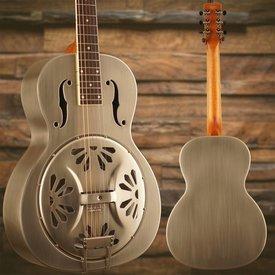 Gretsch Guitars Gretsch G9221 Bobtail Stl Round-Neck A.E. Stl Bdy Spider Cone Res Gtr Fishman Nashville Res Pickup