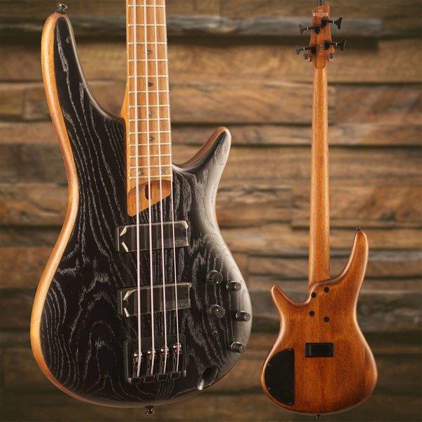 Ibanez Ibanez SR Standard 4str Electric Bass - Silver Wave Black Flat