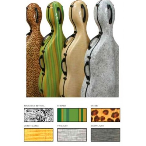 Expression Fiberglass Cello Case - Safari