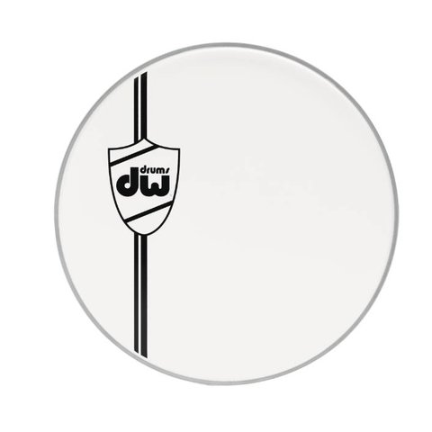 DW 22'' Classic Coated White Bass Drum Head