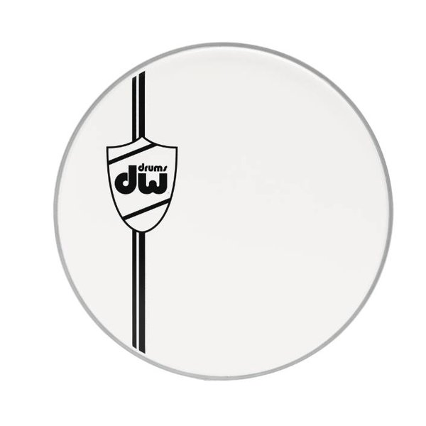 DW DROPSHIP DW 22'' Classic Coated White Bass Drum Head