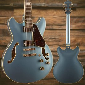 Ibanez Ibanez AS Artcore Expressionist 6str Electric Guitar - Steel Blue S/N PW18040209, 7lbs, 12.7oz