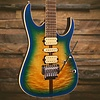 Ibanez RG Premium 6str Electric Guitar w/Case Geyser Blue Burst S/N I171212632, 7lbs, 12.8oz