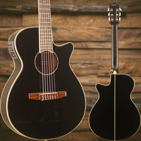 Ibanez AEG10NIIBK AE Acoustic Electric Nylon String Guitar Black