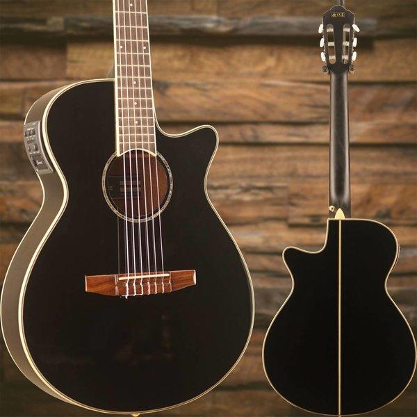 Ibanez Ibanez AEG10NIIBK AE Acoustic Electric Nylon String Guitar Black