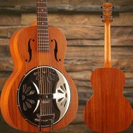 Gretsch Guitars G9200 Boxcar Round-Neck, Mahogany Body Resonator Guitar, Natural