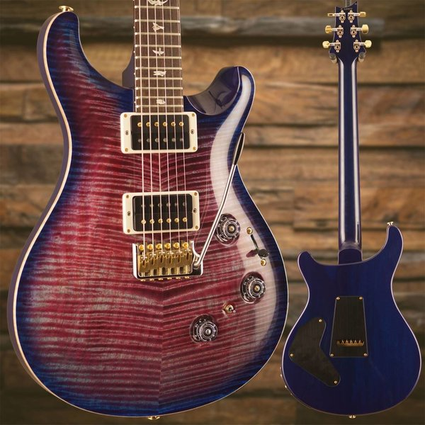 PRS PRS Paul Reed Smith Custom 24 Piezo Ten 10-Top, Pattern Thin Neck, Violet Blue Burst