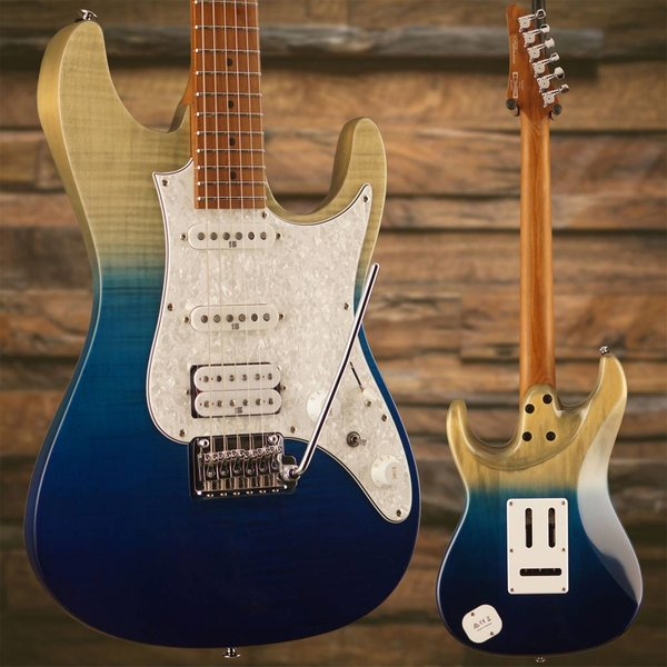Ibanez Ibanez AZ Premium 6str Electric Guitar w/Case - Blue Iceberg Gradation SN/I180623817