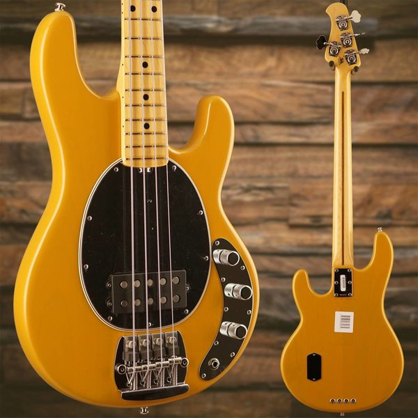 Music Man Ernie Ball Music Man Old Smoothie StingRay Butterscotch, Maple w/ Case