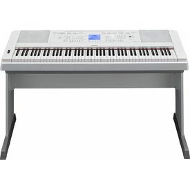Yamaha Yamaha DGX660WH 88-Key White Portable Grand w FREE Bench, Power Adapt & Sustain Pedal
