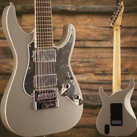LTD ESP LTD KS-M-7 Ken Susi Signature Series 7-String Metallic Silver Electric Guitar