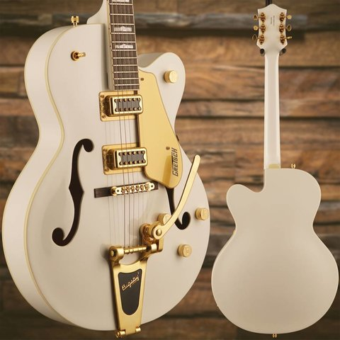 Gretsch G5422TG Electromatic Hollow Double-Cut w Bigsby/Gold Hw, Snowcrest White