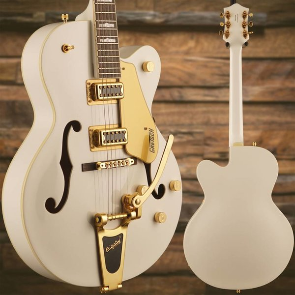Gretsch Guitars Gretsch G5422TG Electromatic Hollow Double-Cut w Bigsby/Gold Hw, Snowcrest White