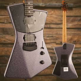 Music Man Ernie Ball Music Man St. Vincent HH, Figured Roasted Maple/Ebony, Charcoal Sparkle