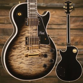 Gibson Gibson LPC-PSL11191 Custom Les Paul Custom 3A Quilt Top w Gold Hardware - Cobra Burst