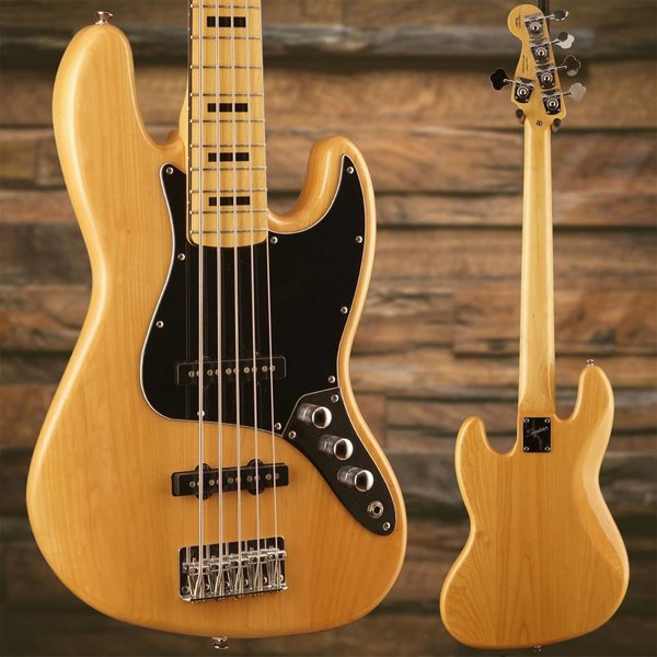 Squier Vintage Modified Jazz Bass V, Maple Fingerboard, Natural