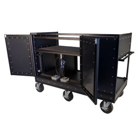 """Pageantry Innovations Pageantry MC-30 Triple Mixer Cart 48.5""""H x 71.71"""" W x 30"""" D"""