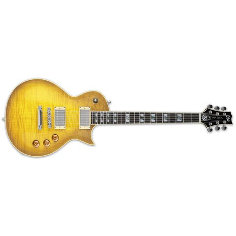 ESP LTD AS-1 Alex Skolnick Signature Series Electric Flamed Maple Lemon Burst
