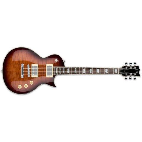 ESP LTD EC-256 Electric Guitar Flamed Maple Dark Brown Sunburst