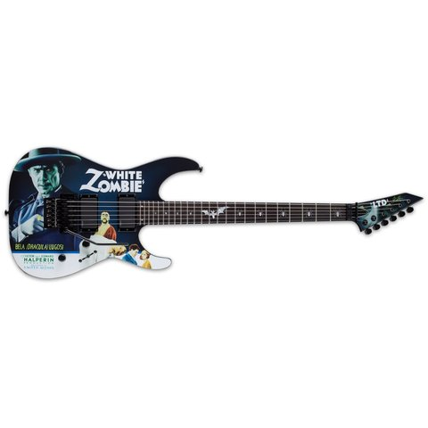 ESP LTD Kirk Hammett White Zombie Signature Series Electric Guitar