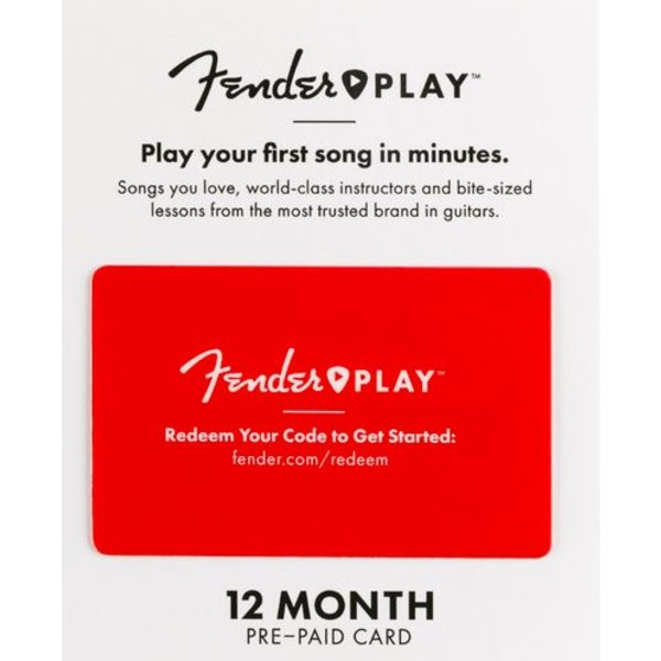 Fender Fender Play 12 Month Subscription Prepaid Card