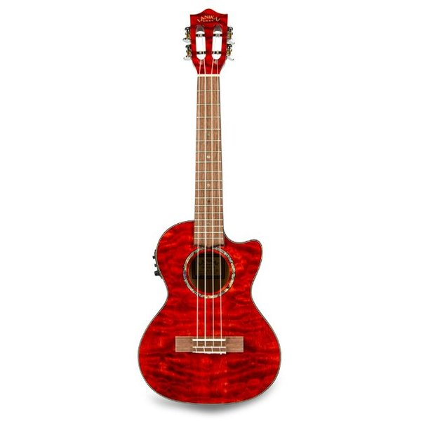 Lanikai Lanikai Quilted Maple Red Stain Tenor with Kula Preamp A/E Ukulele
