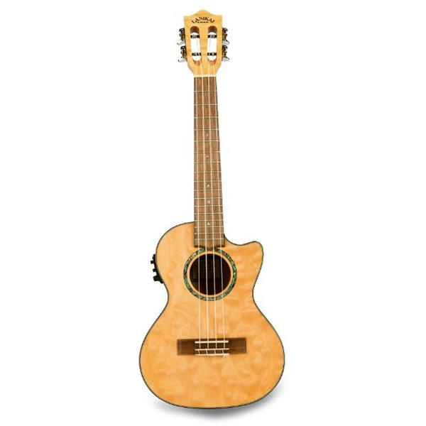 Lanikai Lanikai Quilted Maple Natural Stain Tenor with Kula Preamp A/E Ukulele