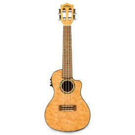 Lanikai Lanikai Quilted Maple Natural Stain Concert with Kula Preamp A/E Ukulele