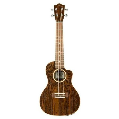 Lanikai Figured Bocote Thin Body Concert with A/E Ukulele
