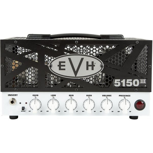 EVH 5150III 15W LBX Head, 120V USA WhiteFace Black Grill