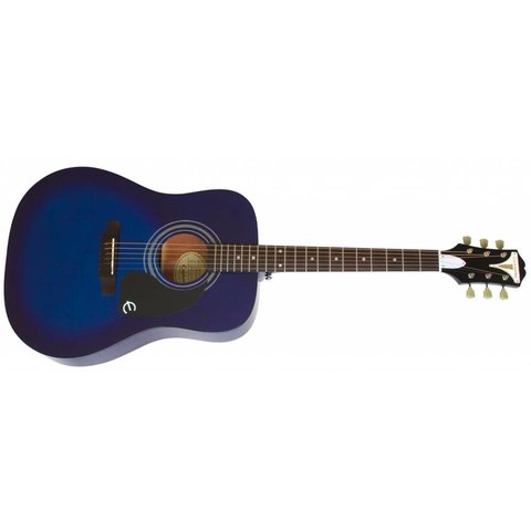 Epiphone EAPRTLCH1 PRO-1 Acoustic, Translucent Blue Chrome Hardware