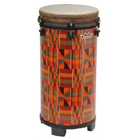 "Remo Remo TUBANO, Drumkey Tuned, 12"" Diameter, 27"" Height, Fabric KinteKloth"