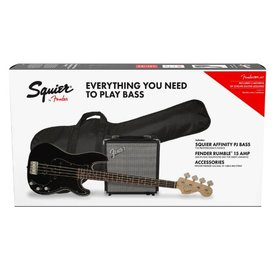 Squier Squier Precision Bass PJ Pack Brown Sunburst w/ Gig Bag and Rumble 15