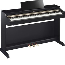 Yamaha Yamaha YDP162PE Polished Ebony Arius Traditional Console Digital Piano w/ Bench