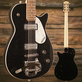 Gretsch Guitars Gretsch Electromatic Jet Baritone w Bigsby Rosewood FB, Black Sparkle w/ Case - Used