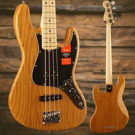 Fender Limited Edition American Pro Jazz Bass Roasted Ash, Maple Fingerboard, Natural SN/18013232