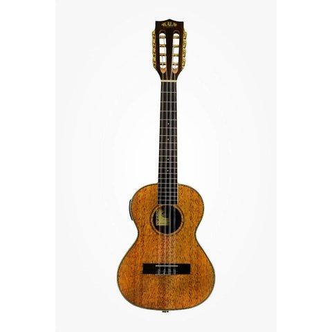 Kala Mahogany Series KA-8E 8-String Tenor Ukulele w/EQ, Gloss/Mahogany/Mahogany
