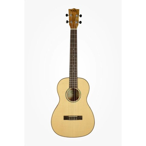 Kala Solid Spruce Top KA-FMBG Baritone Ukulele, Gloss/Solid Spruce/Flame Maple