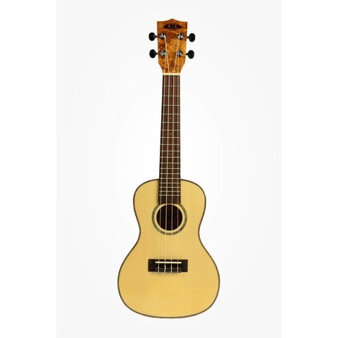 Kala Solid Spruce Top KA-FMCG Concert Ukulele, Gloss/Solid Spruce/Flame Maple