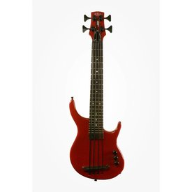 Kala Kala Solid Body UBASS-SUB4FS-SRD U-Bass 4-String, Fretted, Gloss Red w Bag