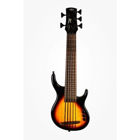 Kala Kala Solid Body UBASS-SUB5FS-BRST U-Bass, 5 String, Fretted Gloss Sunburst w Bag