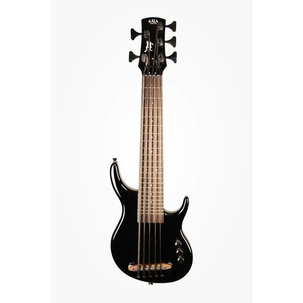 Kala Kala UBASS-SUB5FS-SBK U-Bass, Solid Body, 5-String, Fretted, Gloss Black w Bag