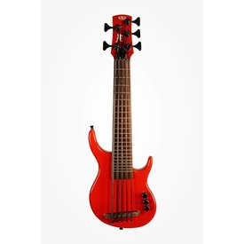 Kala Kala Solid Body UBASS-SUB5FS-SRD U-Bass 5-String, Fretted, Gloss Red w Bag