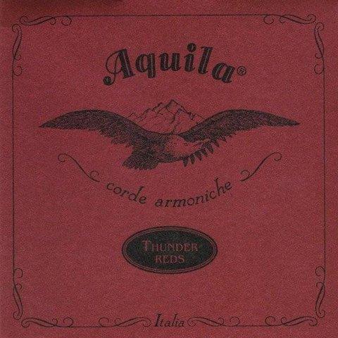 Kala AQ-R-TG-4 Aquila Thundergut Ubass 4 String Set, Red