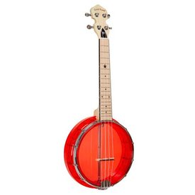 Gold Tone Gold Tone Little Gem Ruby (Red) Banjo Uke, Concert Scale w/ Gig Bag