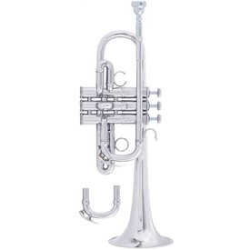 Bach Bach AE190S Stradivarius Artisan Professional Eb Trumpet, Silver Plated
